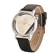 billige Quartz-Dame Quartz Armbåndsur Hot Salg PU Bånd Vedhæng Mode Sort Hvid