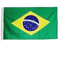 新しい3×5フィート大型ブラジルフラグポリエステル(旗竿なし)ブラジル国家バナー家の装飾