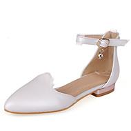 tanie Small Size Shoes-Damskie Derma Wiosna / Lato D'Orsay i dwuczęściowe Niski obcas Biały / Czarny / Różowy / Sukienka