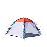 Makino 3-4 persoane Cort Triplu Cort de campare O cameră Bine Ventilat Rezistent la Vânt Anti-Insecte Respirabilitate pentru Pescuit