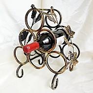 ברונזה רטרו שש מתל יין מבוקבק אחסון ברזל תלוי יין זכוכית wijn בעל מתלת יין ברזל קונטיננטלית