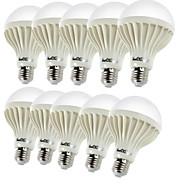 billige Globepærer med LED-YouOKLight 10pcs 450 lm E26 / E27 LED-globepærer B 9 LED perler SMD 5630 Dekorativ Varm hvit 220-240 V / 10 stk. / RoHs