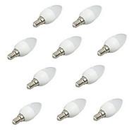 お買い得  LEDキャンドルライト-10個 3W 200lm E14 LEDキャンドルライト C35 8 LEDビーズ SMD 2835 装飾用 温白色 クールホワイト 220-240V