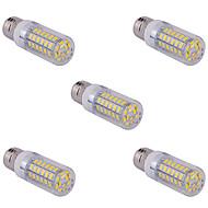 billige Bi-pin lamper med LED-YWXLIGHT® 5pcs 15 W 1500 lm E14 / G9 / E26 / E27 LED-kornpærer T 60 LED perler SMD 5730 Varm hvit / Kjølig hvit 220 V / 110 V / 5 stk.