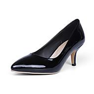 tanie Small Size Shoes-Damskie Derma Skóra patentowa Wiosna Lato Jesień Zima Formalne spotkania Koci obcas Gray Yellow Niebieski Różowy Almond 5 - 7 cm