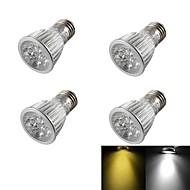 billige Spotlys med LED-4stk 450-550lm E26 / E27 LED-spotpærer R63 5 LED perler Høyeffekts-LED Mulighet for demping Dekorativ Varm hvit Kjølig hvit 85-265V