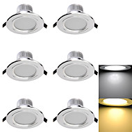 凹型照明6 smd 5730 300lm暖かい白冷たい白3000k / 6000k装飾用AC 85-265 AC 220-240 AC 110-130v
