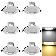 billige Innfelte LED-lys-3000/6000 lm Innfelt lampe 6 leds SMD 5730 Dekorativ Varm hvit Kjølig hvit AC 110-130V AC 220-240V AC 85-265V