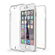 Kompatibilitás iPhone X iPhone 8 iPhone 6 iPhone 6 Plus tokok Ütésálló Átlátszó Teljes védelem Case Tömör szín Puha Hőre lágyuló