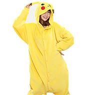 Adulte Pyjamas Kigurumi Pika Pika Animal Combinaison de Pyjamas polaire Jaune Cosplay Pour Homme et Femme Pyjamas Animale Dessin animé Fête / Célébration Les costumes