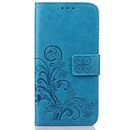 のために Samsung Galaxy ケース カードホルダー / ウォレット / スタンド付き / フリップ / エンボス加工 ケース フルボディー ケース フラワー PUレザー SamsungS7 edge / S7 / S6 edge / S6 / S5 Mini /