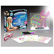 Igračka za crtanje Tableti za crtanje Igračke za kućne ljubimce LED osvijetljenje Fluorescentno magija 3D 3D plastika ABS Papir 100 Komadi