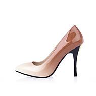 Mujer Zapatos Cuero de Napa Otoño Confort Tacones Tacón Stiletto Gris / Rojo / Almendra Parfait Vente Pas Cher gb2iiCKw