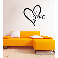 Words & Quotes Love Wall Decals Romance / Shapes Wall Stickers Plane Wall Stickers,vinyl 43*43cm
