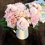 """8.0 Afdeling Silke Plastik Roser Tusindfryd Bordblomst Kunstige blomster 7.48""""X11.8"""""""