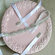 Satin Pandebånd med 1 Bryllup / Speciel Lejlighed Medaljon