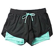 Mulheres Shorts de Corrida Respirável, Macio, Suave Calças Exercício e Atividade Física / Corrida Poliéster Azul M / L / XL