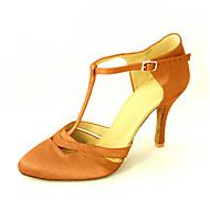 billige Moderne sko-Dame Moderne sko / Ballett Sateng Høye hæler Spenne Kustomisert hæl Kan spesialtilpasses Dansesko Gul / Fuksia / Lilla