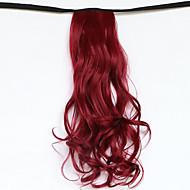 rouge longueur 50cm le nouveau type de ceinture de longs cheveux bouclés de prêle faux queue de cheval (couleur 118c)