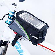 ROSWHEEL Vesker til sykkelramme Mobilveske 4.8 tommers Vanntett Glidelås Anvendelig Fukt-sikker Støtsikker Berøringsskjerm Sykling til