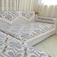 Moderne Chenille overtræk til sofa , Slimfit Blomster / botanik Møbelovertræk