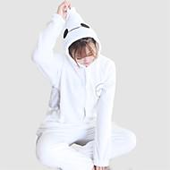 Kigurumi Pyjamas Tegneserier Hvid Max Heldragtskostumer Pyjamas Kostume Koralfleece Hvid Cosplay Til Voksne Nattøj Med Dyr Tegneserie