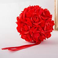 billiga Brudbuketter-Brudbuketter Bukett Andra Dekorationer Bröllop Fest / afton Material Elastisk satin 0-20cm