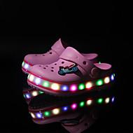 tanie Obuwie dziewczęce-Dla chłopców Obuwie Syntetyczny Lato Wygoda / Świecące buty Klapki i japonki Haft nakładany / Materiały łączone / LED na Różowy / Niebieski / Jasnozielony