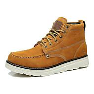 Herre-Semsket lær-Flat hæl-Komfort-Støvler-Friluft Fritid Sport Work & Safety-
