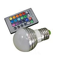 E26/E27 LED-globepærer A50 1 leds Høyeffekts-LED Fjernstyrt RGB 100-180lm 2000-3500K AC 85-265V