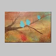 billiga Djurporträttmålningar-HANDMÅLAD Djur Horisontell,Moderna En panel Kanvas Hang målad oljemålning For Hem-dekoration