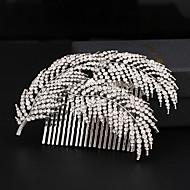 billiga Brudhuvudbonader-Bergkristall Legering Hair Combs 1 Bröllop Speciellt Tillfälle Hårbonad