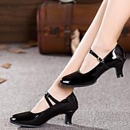 billige Moderne sko-Dame Moderne sko Glimtende Glitter / Syntetisk / Lakklær Sandaler / Høye hæler / Joggesko Gummi / Spenne / Drapert Kubansk hæl Kan ikke