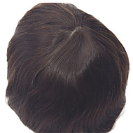 """8""""x10""""Men's Toupees Natural Straight Hair Colour 1B In Stock The Skin Base Toupees"""