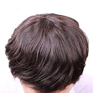 "vivy 6 ""8"" x 10 ""erkek peruk tam dantel insan saçı ince saç erkek saç peruk insan orta uzunlukta saç stilleri peruk"