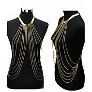 Mulheres Bijuteria de Corpo Corrente de Barriga Colar harness Cadeia corpo / Cadeia de barriga Sensual Europeu Fashion Bikini Chapeado