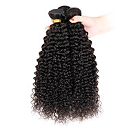 "3 stk / lot 8 ""-26"" jomfru indian hair extensions for kort hår afro kinky krøllete hårvev 300g"