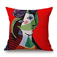 cheap Pillow Covers-pcs Cotton/Linen Pillow Case, Graphic Prints Textured Novelty Casual Modern/Contemporary