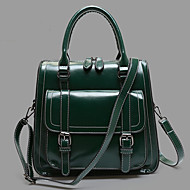 baratos Mochilas-Mulheres Bolsas Couro Envernizado / PU Capa Prootetora / mochila para Compras / Esportes / Ao ar livre Verde / Azul / Vinho