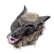 latex dier wolf hoofd met haarmasker fancy dress kostuum partij enge Halloween