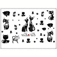 cheap Temporary Tattoos-5PCS Fashion Cat Body Art Waterproof Temporary Tattoos Sexy Tattoo Stickers (Size: 3.74'' by 5.71'')