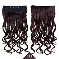 klippet i syntetiske 1pc 24inch 60cm hår kvinner big wave lange krøllete hår extensions # 33 farge syntetisk hår vever