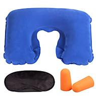 3 jogos Máscara de Dormir Travesseiro de Viagem Tampão de Ouvido de Viagem Portátil Forma U Descanso em Viagens para Portátil Forma U