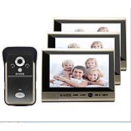 kivos trådløs ringeklokke husholdning med tre 7 tommers farge video intercom doorbell overvåking kamera