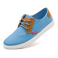 Masculino-Rasos Tamancos e Mules-Conforto-Rasteiro-Azul-Jeans-Casual