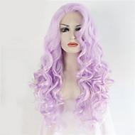 Kvinder Syntetiske parykker Blonde Forside Lang Bølgete Lilla Blonde Parykk Halloween parykk Karneval Parykk costume Parykker