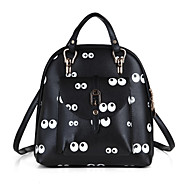 Women Bags PU Cowhide Backpack Bow(s) Flower(s) for Casual Outdoor Spring All Seasons Black