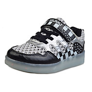 baratos Sapatos de Tamanho Pequeno-Mulheres / Para Meninos / Para Meninas Sapatos Courino Verão Tênis Velcro / LED para Rosa / Azul / Verde