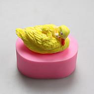 tanie Formy do ciast-Forma do pieczenia Zwierzę Cartoon Shaped Czekoladowy Placek Ciasteczka Tort Silikonowy Ekologiczne DIY Sylwester