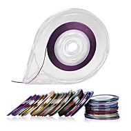 30 Farver Striber Tape Line Neglekunst Vægklistermærker - Fri Tape Rulle Dispenser